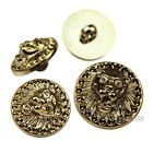 12 PCS Gold Round Lion Shank Button Plastic Sewing Embellishment 18 21 mm
