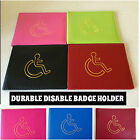 NEW PU LEATHER DISABLED BADGE PARKING HOLDER COVER WITH VARIETY OF COLOURS