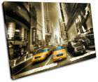 New York Yellow Taxi Cab City SINGLE CANVAS WALL ART Picture Print VA