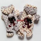 Fleece Dog Pajamas Overalls Polka Dots Pants Jumpsuits Pet Apparel Dog Clothes