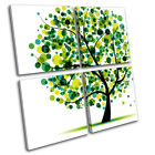 Abstract Tree Illustration MULTI CANVAS WALL ART Picture Print VA