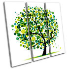 Abstract Tree Illustration TREBLE CANVAS WALL ART Picture Print VA