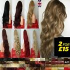 UK Supplier 3/4 Wig Fall Clip in Hair Accessories Real Thick Wig Fall for women