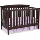 New 4 in 1 Convertible Baby Crib W  Mattress Toddler Nursery Bed Changer Side