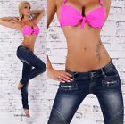 Hot Womens Jeans Sexy Skinny Jeans Dark Blue Wash Trousers UK 6-14
