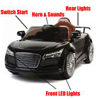 Audi R8 Style Kids Ride on 12v Electric Battery Powered Childrens Toy Car RC-BLK