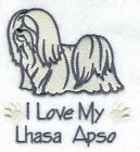 EMBROIDERED  LHASA APSO     FLEECE or HOODIE or  SWEATSHIRT 6 SIZES 8 COLOURS