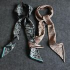Luxurious Gift!  Mens 100% Silk Mulberry Scarf/Cravat Double Layer Black  ●M20#