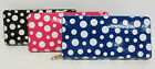 LADIES ELLA POLKA DOT PATTERN PURSE/WALLET AVAILABLE IN 3 COLOURS -72699