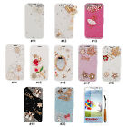 Rhinestone PU Leather Wallet Flip Stand Case Cover For Samsung Galaxy S4 i9500