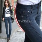 New Fashion Womens Korean Slim Look Thin Denim Pants Trousers 26~32 HUK
