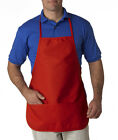 UltraClub Large Two-Pocket Bib Apron 8201