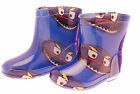 Kids Wellies Blue Monster design in sizes 3, 4, 5, 6, 7, 8, 9, 10, 11 & 12