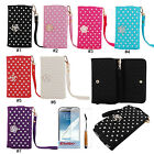 PU Leather Wallet Case Cover For Samsung Galaxy S5 Note 2 3 i9600 N7100 N9000