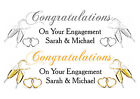 PERSONALISED WEDDING, ENGAGEMENT ANNIVERSARY SUPER XL BANNER CHAMPAGNE GLASSES