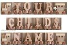 WOODEN TRAIN (BOY/GIRL) - ALPHABET - YOUR CHILDS NAME - U CHOOSE LETTERS - BNWT
