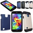 Hybrid Rugged Hard Case Built in Screen Protector For Samsung Galaxy S5 SV i9600