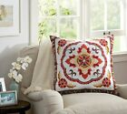 Vintage Embroidered Boho Ethnic Cotton Decorative Cushion Cover Throw Pillow
