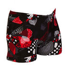 New Men Beach Shorts Digital Printing Swimming Trunks Geometric Pattern Swimwear
