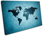World Atlas Funky Maps Flags SINGLE CANVAS WALL ART Picture Print VA