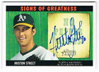 2005 Bowman Heritage Signs of Greatness Huston Street On Card AUTO FREE SHIPPING