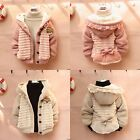 Baby Toddler Girls Fur Fleece Cardigan Jacket Coat Knit Sweater Outwear Clothes