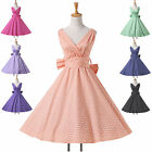 ❤ DISCOUNT❤1 WOMENS VINTAGE STYLE 1950's WEDDING COCKTAIL ROCKABILLY SWING DRESS