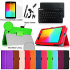 For LG G Pad 7.0 7-Inch Leather Smart Case Cover Bluetooth Keyboard with Bundle