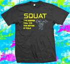 Squat bodybuilding weight training gym - T Shirt - 3 colour options - S to 3XL