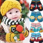3502 Soft Cute Baby Toddler Boy Girl Mittens Kids Warm Glove Winter 1--5 Years