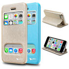 New style Fashion Luxury Super Leather Stand Flip Case Cover For Iphone5C Ytin 0