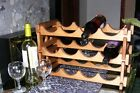 *Pine wooden wine rack holds up to 12 bottles*Pine wine glass holder*