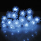 20D 5M LED Solar Furballs Power Fairy String Lights Garden  Xams Party Lighting