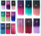 One Piece Colorful High temperatur a short Hair Extensions Curly Straight 5clips