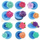 Rose Flower Food Grade Silicone Mold For Polymer Clay Crafts Cake Decorating