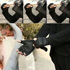 Armed Combat Tactical Military Anti-slip Airsoft Hunting Half Finger Gloves PU