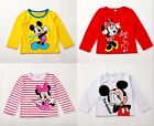 Minnie Mickey Mouse Baby Girls Boys Kids Long Sleeve Blouses Tops Shirt Hoodie