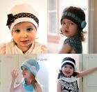 Stylish Stunning 20's Influenced Girls Hat in Cotton. Band, Bow & Flower Detail