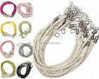 10 pcs/lot Necklace Braided Rope PU Leather Cord for Jewelry Making String 3mm