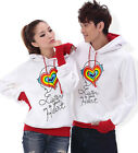 4 Colors Fashion Lovers Couples Sweater Hoodie Coat warm Thick Women Men WL6116