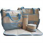 New 5pcs Baby Nappy Changing Bag Set Diaper Storage Mummy Bags Baby Travel Pack