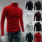 Comfort Men Casual High Collar Hedging Long Sleeve Slim Knits Sweater Shirt Tops