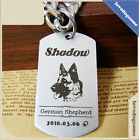Rectangle Personalized Deep Engraved Stainless Steel Pet ID Tags Dog Name Tag