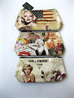 LADIES MARILYN MONROE ZIP FASTENING MAKE UP BAG ELLA 72740  *3 DESIGNS*