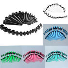 36Pcs Mix 14G-00G Acrylic O-Rings Ear Tapers + Plugs Expander Stretching Kit Set