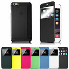 Flip Leather Slim Hard Back Shell Case Cover for Apple iPhone 6 Plus iPhone 6