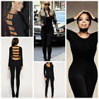 Celebrity Style Slash Back Dance Catsuit Unitard Jumpsuit Size 6 to 14UK/4-10USA