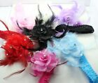 Girl kid Children crystal feather rose stretch hair band headbands H923-929