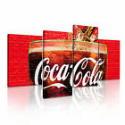 FOOD & DRINK Other 2 Canvas 4A-RH Framed Printed Wall Art ~ 4 Panels