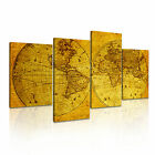 MAP 13 Canvas 4A-RH Framed Printed Wall Art ~ 4 Panels
